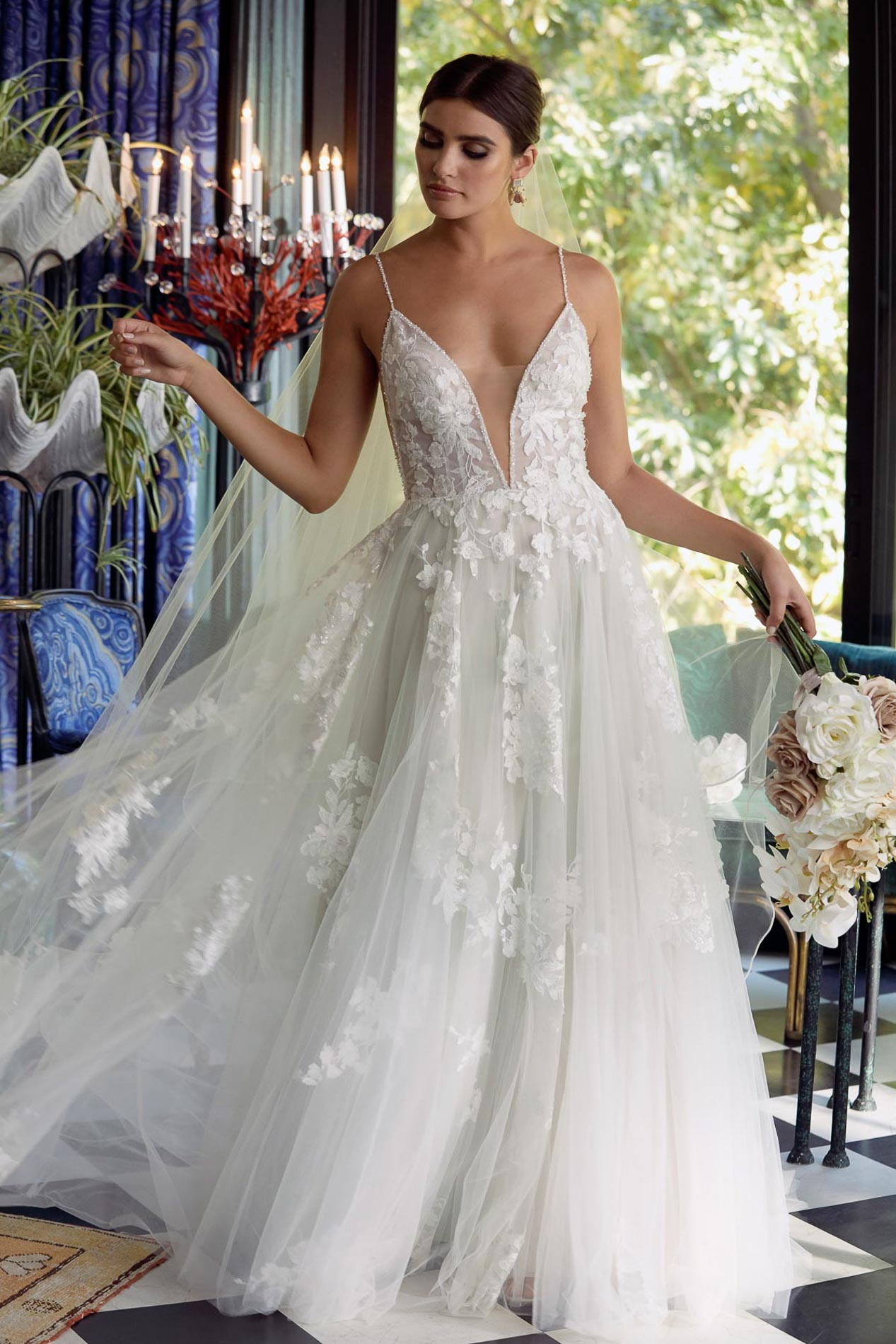 Feminine wedding dress, Cabinet of Wonders, an exclusive Watters WTOO event