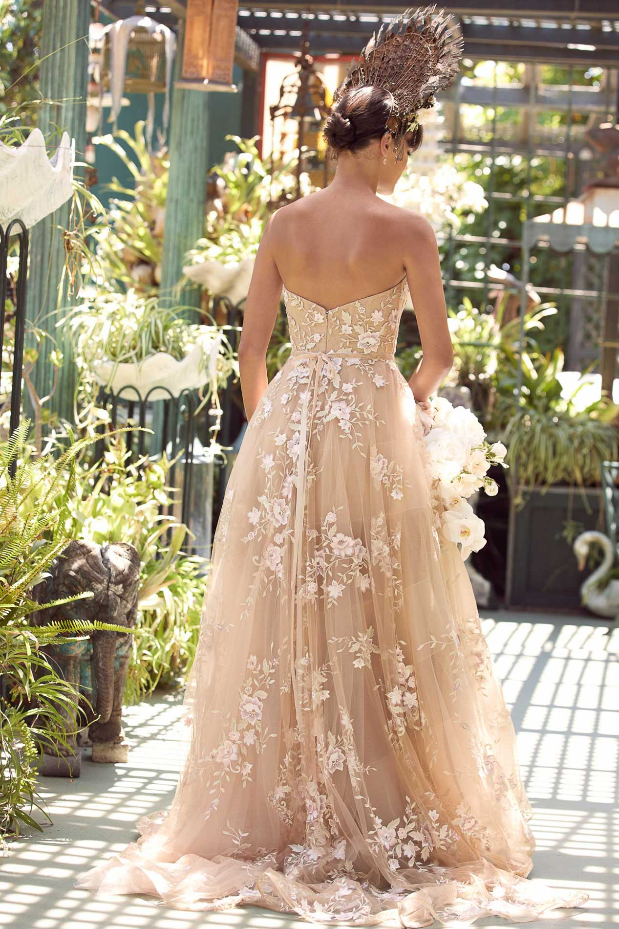 Blush wedding gown, Cabinet of Wonders, an exclusive Watters WTOO event