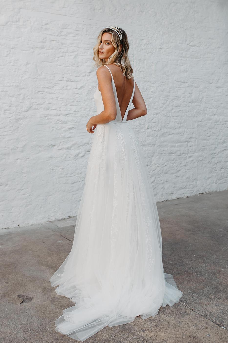 Love Story Bride, Amelia Overskirt  Hannah Elizabeth Bridal, Hampshire